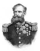 Marshal Manuel Deodoro da Fonseca  1827 - 1892. First President of the Republic of Brazil (1889-1891), after heading a military coup that deposed Emperor Pedro II