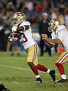 San Francisco 49ers running back Kelvin Taylor (23) runs the ball during the 2016 NFL preseason football game against the San Diego Chargers on Thursday, Sept. 1, 2016 in San Diego. The 49ers won the game 31-21. (©Paul Anthony Spinelli)