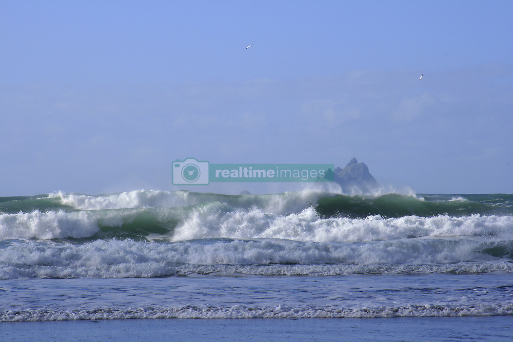 July 21, 2019 - St Finian's Bay, County Kerry, Ireland, Skellig Islands In The Background (Credit Image: © Peter Zoeller/Design Pics via ZUMA Wire)
