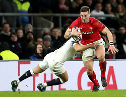 Wales' George North in action during the NatWest 6 Nations match at Twickenham Stadium, London.
