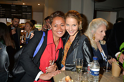 Left to right, MONICA GALETTI and TESS WARD at a party to celebrate the launch of Top Dog at 48 Frith Street, Soho, London on 27th May 2015