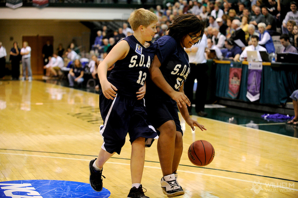 18 MAR 2011:  Members of Bloomington S.O.A.R. play an exhibition match at halftime during the 2011 NCAA Women's Division III <br /> Basketball Championship held on the campus of the Illinois Wesleyan University in Bloomington, IL. © Brett Wilhelm
