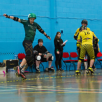 New Wheeled Order take on Crash Test Brummies in the Tier 1 Mens British Champs at Salford University Sports Centre, 2018-05-05