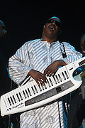 Stevie Wonder performs on the third day of the 2010 Bonnaroo Music & Arts Festival on June 12, 2010 in Manchester, Tennessee. The four-day music festival features a variety of musical acts, arts and comedians..Photo by Bryan Rinnert/3Sight Photography