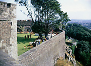 Wall and interior of  of Stirling castle, Scotland 1968