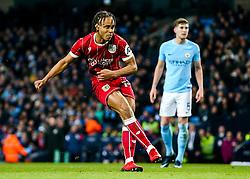 Bobby Reid of Bristol City scores a goal from the penalty spot to make it 0-1 - Rogan/JMP - 09/01/2018 - Etihad Stadium - Manchester, England - Manchester City v Bristol City - Carabao Cup Semi Final First Leg.