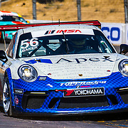 SEPT 16, 2018 Sonoma, CA, U.S.A :  # 56 David Baker coming out of turn 9 S curve during the GoPro Grand Prix of Sonoma Porsche GT3 Race 2 at Sonoma Raceway Sonoma, CA  Thurman James