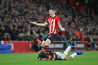 Football - 2018 / 2019 Premier League - Southampton vs. Manchester United<br /> <br /> Southampton's Pierre-Emile Hojbjerg protests his innocence after fouling Marouane Fellaini of Manchester United at St Mary's Stadium Southampton<br /> <br /> COLORSPORT/SHAUN BOGGUST
