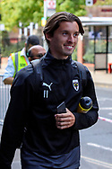 AFC Wimbledon midfielder Ethan Chislett (11) arriving for the game during the EFL Sky Bet League 1 match between AFC Wimbledon and Plymouth Argyle at the Kiyan Prince Foundation Stadium, London, England on 19 September 2020.