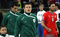 Zlatko Dedic of Slovenia before the 8th day qualification game of 2010 FIFA WORLD CUP SOUTH AFRICA in Group 3 between Slovenia and Czech Republic at Stadion Ljudski vrt, on March 28, 2008, in Maribor, Slovenia. Slovenia vs Czech Republic 0 : 0. (Photo by Vid Ponikvar / Sportida)
