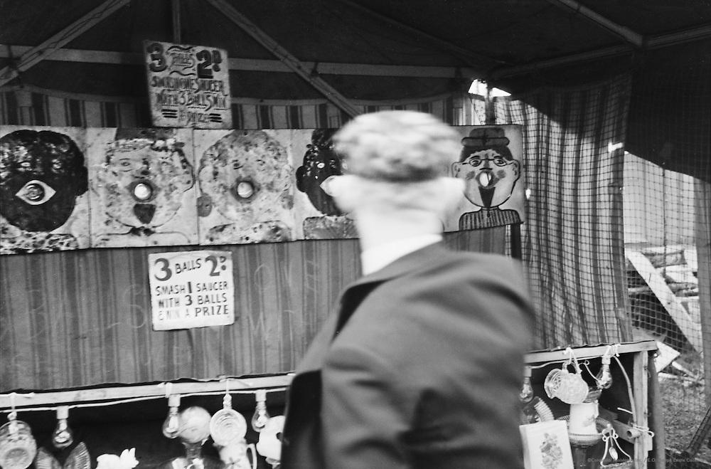 Fun Fair on Hampstead Heath on Bank Holiday, London, c.1939