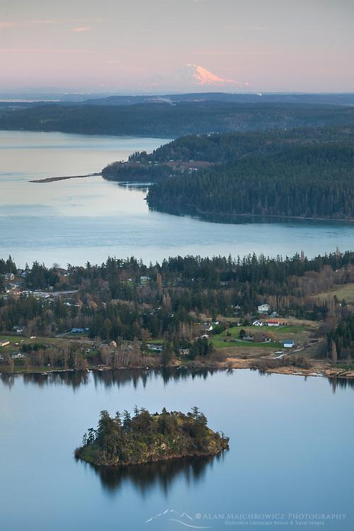 View from Mount Erie Fidalgo Island Washington
