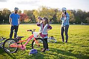 The B Family bikes around Madison, Wisconsin on May 2, 2016. <br /> <br /> Beth Skogen Photography - www.bethskogen.com
