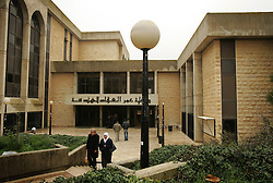 Students walk through campus on the first day of school at Birzeit University, Beit Hanina, Palestinian Territories, Feb. 13, 2005. There is a rising Palestinian middle and upper class who are likely to have prominent roles in the developing peace process.