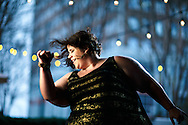"""Whitney Way Thore in the downtown area, Monday, February 22, 2016, in Greensboro, N.C. <br /> <br /> Whitney Way Thorefirst gained recognition for her viral YouTube video series,""""A Fat Girl Dancing"""" in January 2014. As a body-positive activist and self-love advocate, Whitney founded theNo Body Shame Campaignto help men and women of every variety live their lives free of shame. The mission of the No Body Shame campaign is to help every individual overcome the debilitating effects of societal-induced shame. Currently, she stars in the TLC reality show My Big Fat Fabulous Life. Also, she is writing her first book titled I Do It With the Lights Onto be published by Random House in 2016. She lives in her hometown of Greensboro, North Carolina.<br /> <br /> JERRY WOLFORD and SCOTT MUTHERSBAUGH / Perfecta Visuals"""