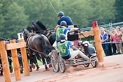 Stephane Chouzenoux, (FRA), Corriano, Fillip Spudalshoej, Mefisto, Nemo, Votilas - Driving Marathon - Alltech FEI World Equestrian Games™ 2014 - Normandy, France.<br /> © Hippo Foto Team - Jon Stroud<br /> 06/09/2014
