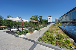 Rooftop garden area at Bikini Berlin new shopping centre in Berlin Germany