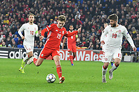 Football - 2018 / 2019 UEFA Nations League B - Group Four: Wales vs. Denmark<br /> <br /> David Brooks of Wales shoots at goal , at Cardiff City Stadium.<br /> <br /> COLORSPORT/WINSTON BYNORTH