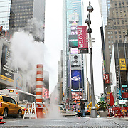 USA/New York/20090911 - Straten van New York , Time Square in de regen