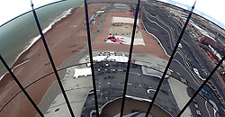 Mila Brazzi abseiling from the British Airways i360 in Brighton during the iDrop charity abseil to raise money for Rockinghorse, the fundraising arm of the Royal Alexandra ChildrenÕs Hospital.
