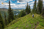 Hiking the Moose Peak Trail in the Flathead National Forest, Montana, USA MR