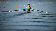 Plovdiv BULGARIA. 2017 FISA. Rowing World U23 Championships. <br /> MEX BLM1X. LOPEZ GARCIA, Alexis.<br /> Wednesday. PM,  Heats 17:45:14  Wednesday  19.07.17   <br /> <br /> [Mandatory Credit. Peter SPURRIER/Intersport Images].