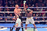 Boxing - 2017 _<br /> Dillian Whyte v Robert Helenius (WBC silver heavyweight) <br /> <br /> Dillian Whyte air punches at Robert Helenius <br /> , at the Principality Stadium, Cardiff.<br /> <br /> COLORSPORT/WINSTON BYNORTH