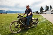 An early Harley Davidson at WAAAM.