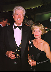 MR & MRS EDWARD ASPREY, members of the Asprey jewellery family, at a ball in London on 18th September 1998.MKD 17