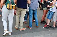 line at food festival-Menilmontant, Paris