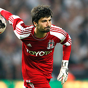 Besiktas's goalkeeper Tolga Zengin during the UEFA Europa League Play Offs Second leg soccer match Besiktas between Tromso at Ataturk Olimpiyat stadium in Istanbul Turkey on Thursday August 29, 2013. Photo by Aykut AKICI/TURKPIX