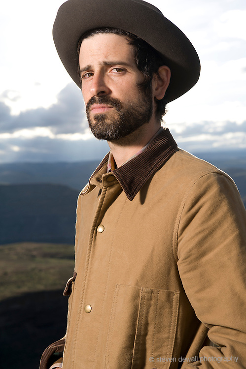 Devendra Banhart poses for a portrait backstage at the Gorge Amphitheater