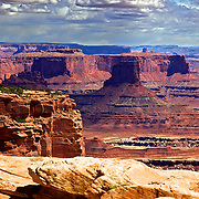 The view from the Buck Canyon overlook in the Island in the Sky section of Canyonlands National Park near Moab, Utah.
