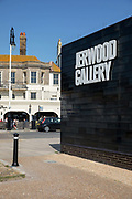 The Jerwood Gallery on the 20th April 2019 in Hastings in the United Kingdom. The Jerwood Gallery opened in 2012, the museum displays contemporary British art in a modern space.