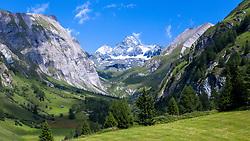 THEMENBILD - Kalser Ködnitztal mit Grossglockner (Glockner), höchster Berg Österreichs (3798m), Sommer, am Sonntag 04. August 2019, Kals am Großglockner, Nationalpark Hohe Tauern, Österreich // Kalser Koednitz valley with Grossglockner (Glockner), highest mountain of Austria with 3.798 meter sea level, summer, on Sunday 04. August 2019, Kals am Grosglockner, Hohe Tauern National Park. EXPA Pictures © 2019, PhotoCredit: EXPA/ Johann Groder