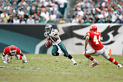 Philadelphia Eagles wide receiver DeSean Jackson #10 runs the ball during the NFL game between the Kansas City Chiefs and the Philadelphia Eagles on September 27th 2009. The Eagles won 34-14 at Lincoln Financial Field in Philadelphia, Pennsylvania. (Photo By Brian Garfinkel)