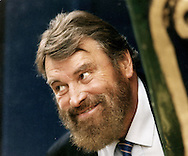 English actor, Brian Blessed, pictured in Edinburgh promoting a play he was starring in at the Edinburgh Festival Fringe. Blessed came to fame as PC 'Fancy' Smith in the BBC TV police drama series Z Cars and starred in numerous Shakespearean and medieval dramas. He was also known for his role as the Emperor Augustus in the 1976 BBC TV series I, Claudius.