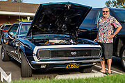 8/15/2019 - JR Payne, the original owner of this 1967 Chevrolet Camera SuperSport complete with positraction, proudly displays his treasure at Encinitas Classic Car Cruise Night