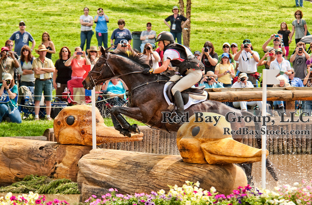 Jessica Phoenix and Exponential at the 2011 Rolex Kentucky Three-Day Event in Lexington, KY.