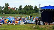 Węgorzewo 2008-07-10. Miasteczko festiwalowe, rock festiwal.