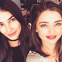 """Miranda Kerr releases a photo on Instagram with the following caption: """"Happy Birthday beautiful angel @lilyaldridge \u2764\ufe0f Love you to the moon and back \u2764\ufe0f"""". Photo Credit: Instagram *** No USA Distribution *** For Editorial Use Only *** Not to be Published in Books or Photo Books ***  Please note: Fees charged by the agency are for the agency's services only, and do not, nor are they intended to, convey to the user any ownership of Copyright or License in the material. The agency does not claim any ownership including but not limited to Copyright or License in the attached material. By publishing this material you expressly agree to indemnify and to hold the agency and its directors, shareholders and employees harmless from any loss, claims, damages, demands, expenses (including legal fees), or any causes of action or allegation against the agency arising out of or connected in any way with publication of the material."""