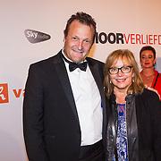 NLD/Scheveningen/20130909 -  Filmpremiere Smoorverliefd, Dave Schram en partner Maria Peters
