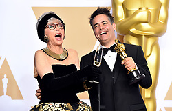 "Rita Moreno with Sebastian Lelio winner of the award for Best Foreign Language Film for ""A Fantastic Woman"" at the 90th Annual Academy Awards (Oscars) presented by the Academy of Motion Picture Arts and Sciences."