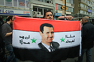 Pro-Assad demonstrators hold a rally outside the Istanbul Congress Centre, where the Second Conference of the Group of Friends of the Syrian People was being held, Istanbul, April 1st 2012. Bradley Secker / ENN