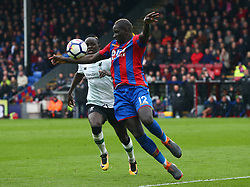 March 31, 2018 - London, Greater London, United Kingdom - Crystal Palace's Manadou Sakho.during the Premiership League  match between Crystal Palace and Liverpool at Wembley, London, England on 31 March 2018. (Credit Image: © Kieran Galvin/NurPhoto via ZUMA Press)