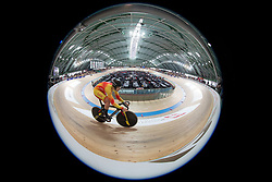 March 2, 2019 - Pruszkow, Poland - Juan Peralta Gascon (ESP)  competes in the Men's sprint qualifying race on day four of the UCI Track Cycling World Championships held in the BGZ BNP Paribas Velodrome Arena on March 02 2019 in Pruszkow, Poland. (Credit Image: © Foto Olimpik/NurPhoto via ZUMA Press)