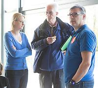 AMSTELVEEN -Arbitrage bij DOD C jeugd, met Bart Jan van Woensel, Japik Riemersma,  Fanneke Alkemade. COPYRIGHT KOEN SUYK