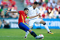Spain's Dani Ceballos (l) and Italy's Orsolini during international sub 21 friendly match. September 1,2017.(ALTERPHOTOS/Acero)