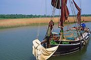 AREJP6 Sailing barge Cygnet River Alde Snape Suffolk England