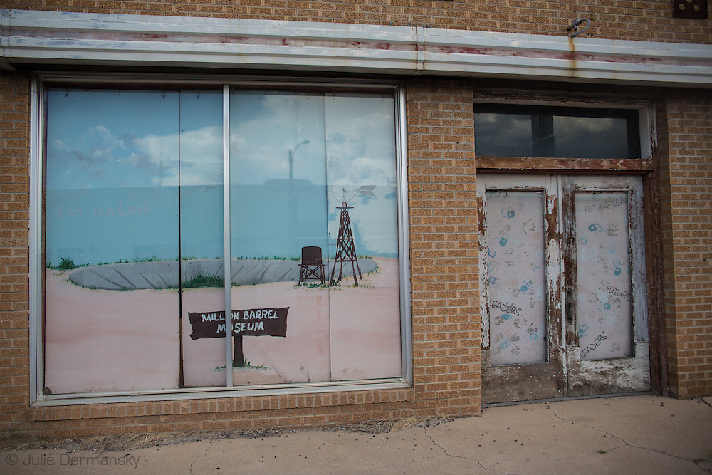Storefront for the Million Barrel Museum in  Monahans, Texas in the Permian Basin.